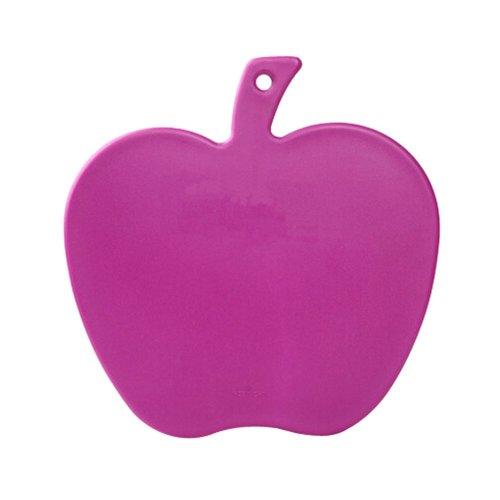 Creative Apple Shaped Health Baby Cutting Board Flexible Chopping Board PURPLE