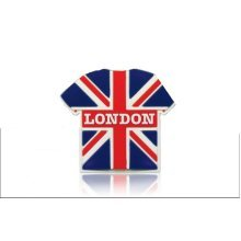 London Union Jack Fridge Magnet Rubber T-Shirt Souvenir Gift United Kingdom Flag
