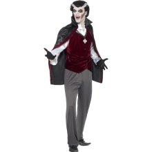 Men's Black Vampire Costume -  costume vampire fancy dress mens halloween smiffys dracula outfit count