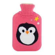 Warm Cute Hot-Water Bottle Water Bag Water Injection Handwarmer Pocket Cozy Comfort,F