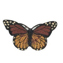 6PCS Embroidered Fabric Patches Sticker Iron Sew On Applique [Butterfly F]