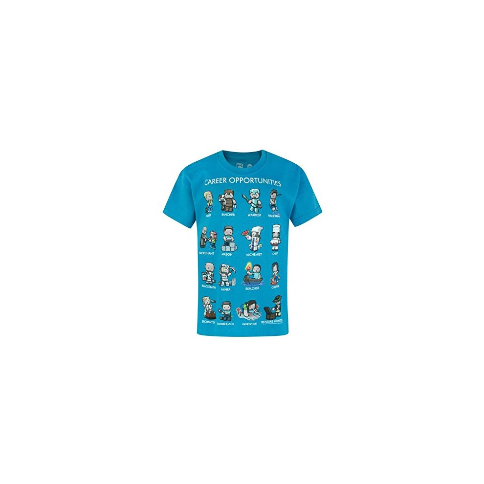 Blue Minecraft Career Opportunities Youth/'s Official Licensed T-Shirt