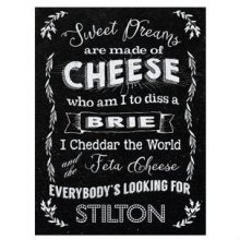 Sweet Dreams Are Made Of Cheese - Mini Hanging Metal Sign