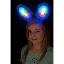 cc9f03cf475 White   Blue Light Up Bunny Ears Hen Party Costume - bunny ears costume  smiffys fancy dress time4fun leisure products white blue light up hen party