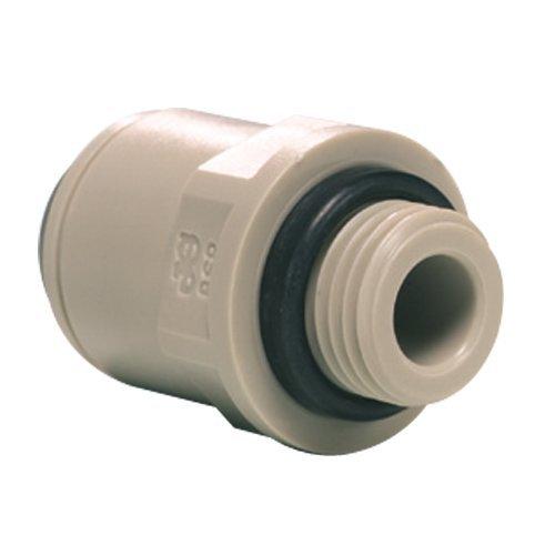 John Guest Straight Adaptor 1/4 inch Tube OD x 1/4 inch BSP Male Thread (one supplied)