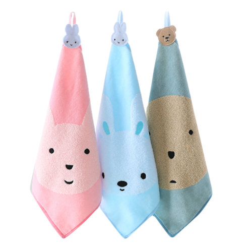 Soft Absorbent Cotton Towels Square Towels for Baby 3 Packs  #4