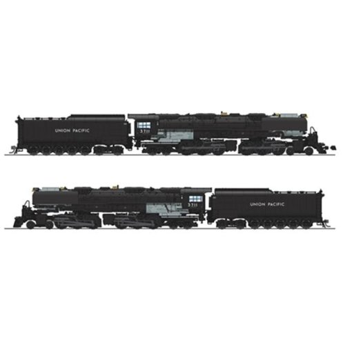 Broadway Limited Imports BLI4981 HO-Scale 4-6-6-4 Challenger with Oil Tender, Union Pacific No. 3711 - Equipped with Paragon3 Sound & DCC
