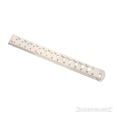 150mm Steel Rule & Drill Guide - Silverline 633959 -  steel drill rule guide 150mm silverline 633959