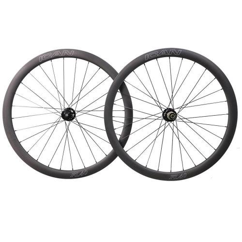 ICAN FL40 Disc Carbon Clincher 6 Bolts Wheels