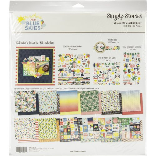 """Simple Stories Collector's Essential Kit 12""""X12""""-Sunshine & Blue Skies"""