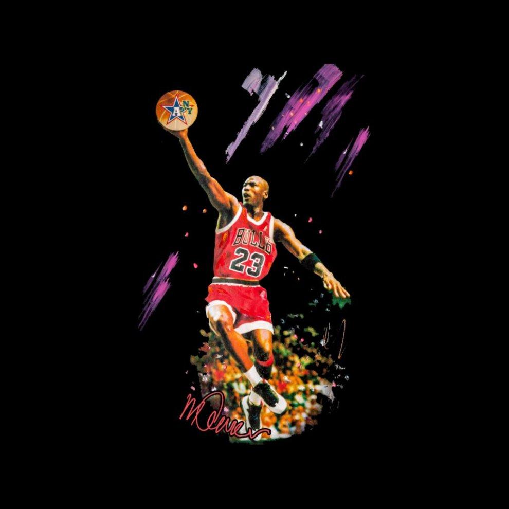2629e6ebbfe3 ... Sidney Maurer Original Portrait Of Bulls Star Michael Jordan Men s  Varsity Jacket ...