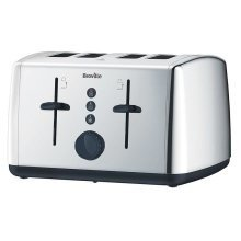 Breville Vista 4 Slice Polished Stainless Steel Toaster - Silver (Model VTT549)