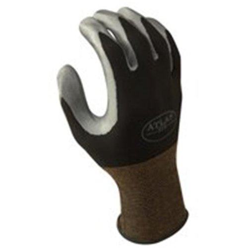 Showa Best Glove 370BM-07.RT Medium Atlas 370 Nitril Black Glove