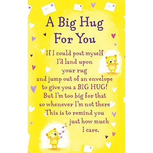 "Heartwarmers A Big Hug For You Keepsake Card & Envelope 3.5"" x 2"" Code K134E"