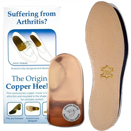 FREE Leather Insole Arthritis COPPER HEELER SIZE 10-12