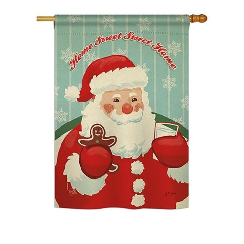 Breeze Decor BD-XM-H-114200-IP-BO-DS02-US Sweet Home Santa Winter - Seasonal Christmas Impressions Decorative Vertical House Flag - 28 x 40 in.