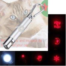 Laserpointer Katzenspielzeug Rot Laser Pointer LED Lichtpunkt mit Karabinerhaken for Cat Dog