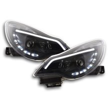 Daylight headlight  with DRL Opel Corsa D Year from 2011 black