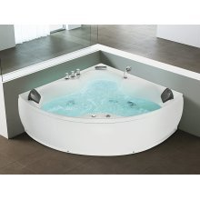 Corner Whirlpool - Bathtub - Waterfall - Colour Light - SENADO