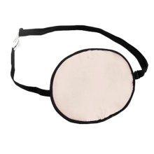Adult Kids Amblyopia Strabismus Lazy Eye Adjustable Soft Pirate Eye Patch Single Eye Mask (Adult) ,a