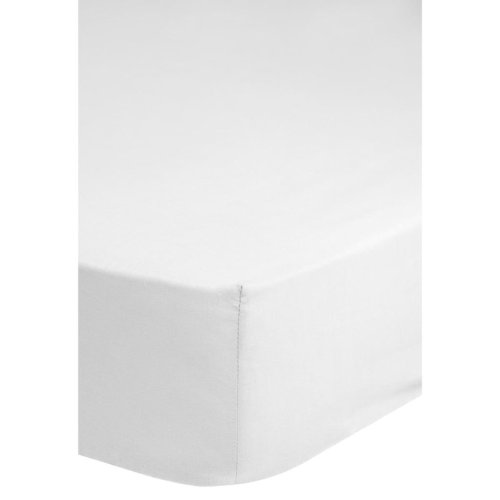 Emotion Non-iron Fitted Sheet 160x200 cm White 0220.00.45