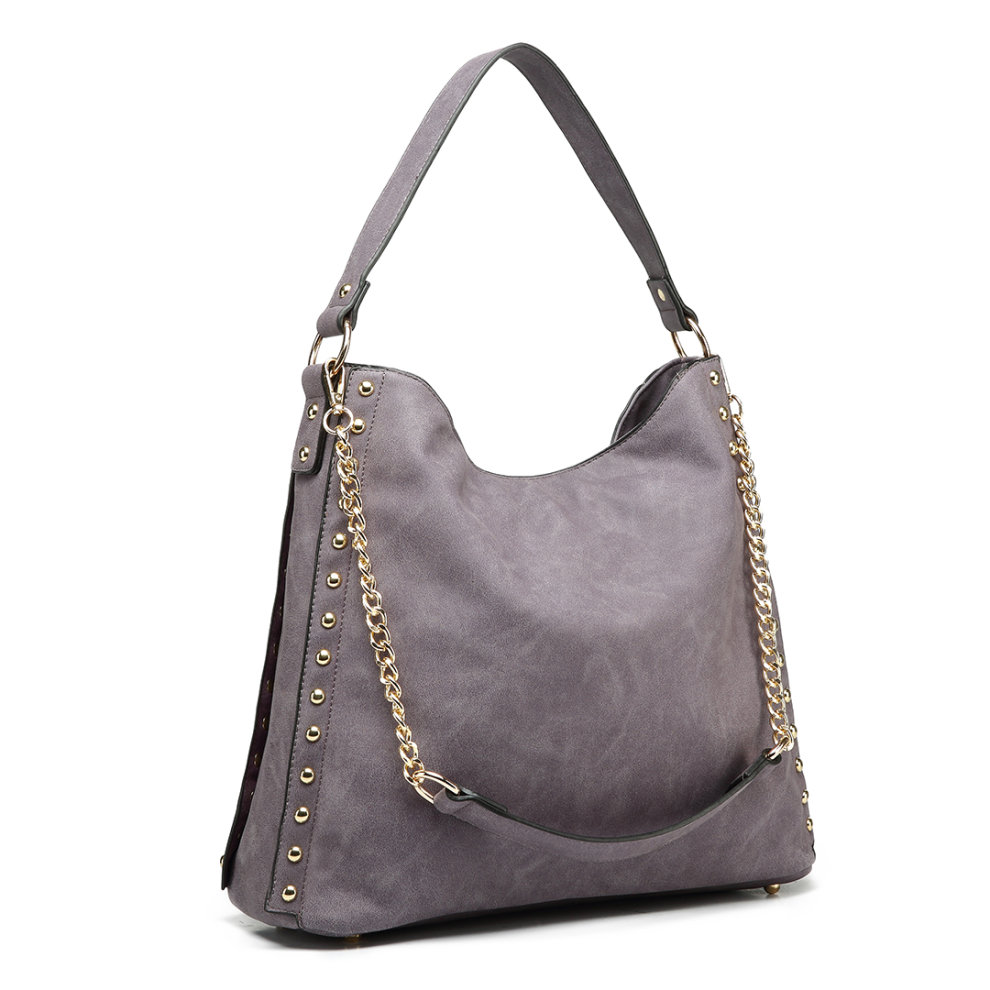 Miss Lulu Women s Studded Hobo Shoulder Tote Bag on OnBuy 093e2a7ddb549