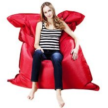 XXXL GIANT BEANBAG CUSHION PILLOW INDOOR OUTDOOR RELAX GAMING GAMER BEAN BAG [Really Red]