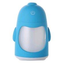 Mini USB Humidifier Creative Humidifier Cute Penguin 150ml [Blue]
