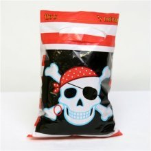 Amscan Lootbags - Pirate Party - Bags 8 Loot Birthday Plastic Items Skull Happy -  party pirate bags 8 loot birthday plastic items skull HAPPY