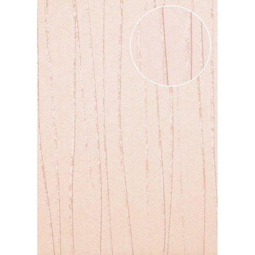 Atlas COL-569-6 Stripes wallpaper shimmering rose 5.33 sqm