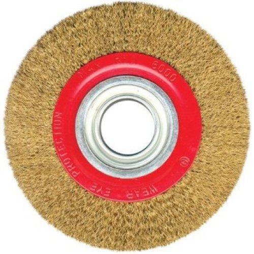 Brassed Steel Wire Wheel 125mm X 20mm Bench Grinder
