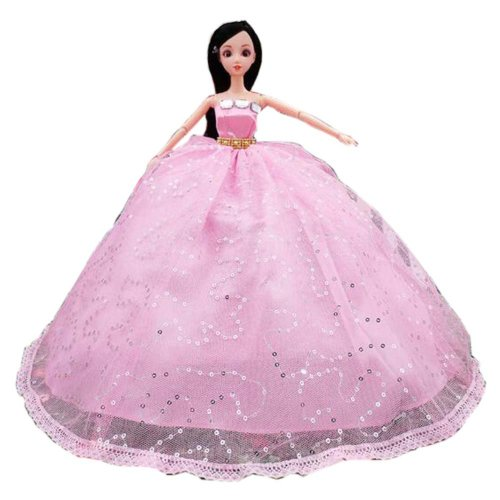 Elegant Dolls Wedding Party Dress Princess Clothes Dolls Outfits for Girl Birthday Gift, E