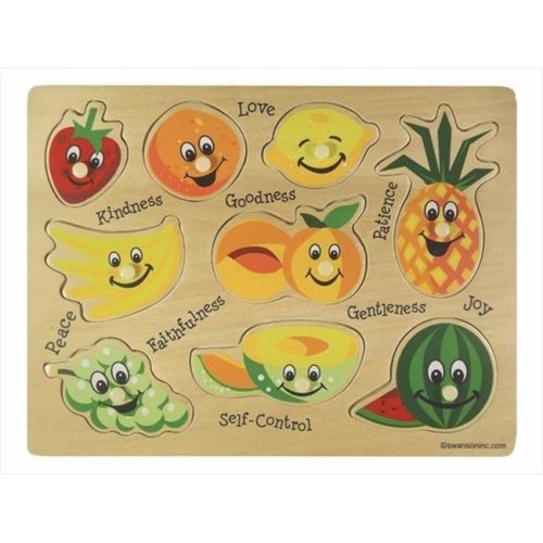 Puzzle Fruits Of The Spirit Wooden 9 Pieces