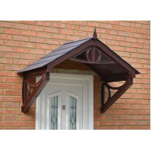 Brown Rockingham Door Canopy | Over Door Awning