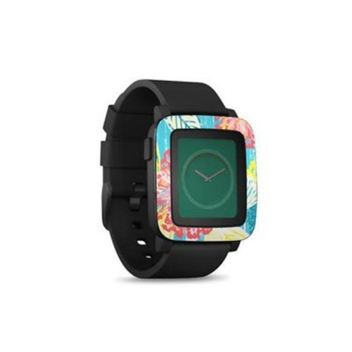 DecalGirl PSWT-TICKLEDPEACH Pebble Time Smart Watch Skin - Tickled Peach