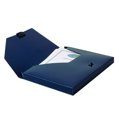 Snopake DocBox Box File Polypropylene with Push Lock 25mm Spine A4 Blue Ref 12845