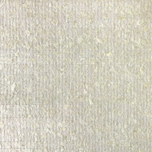 WallFace CSA02 non-woven wallpaper Capiz shells mother-of-pearl white 2.45 sqm
