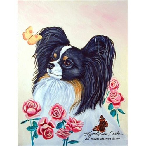 Carolines Treasures 7236CHF 28 x 40 in. Papillon House Size Canvas Flag