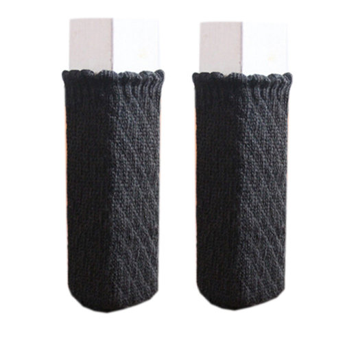 24 Pcs Chair Leg Pad Furniture Knit Socks Pineapple Pattern, Dark Chocolate