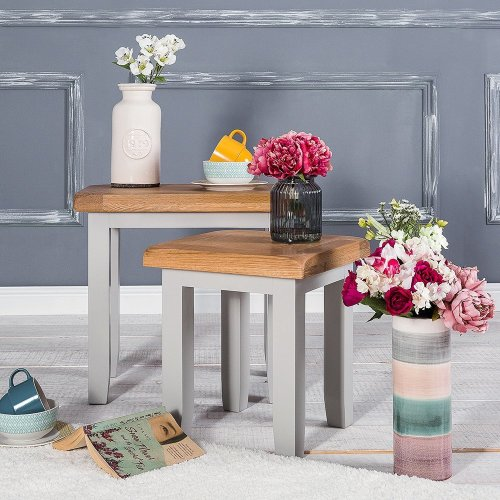 Hampshire Grey Painted Oak Nest of Tables