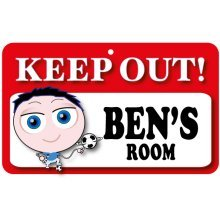 Keep Out Door Sign - Ben's Room