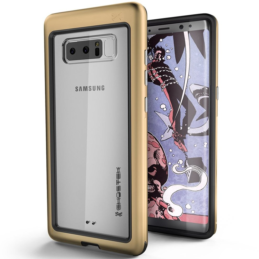 on sale b1dde a24e1 Ghostek Atomic Slim Hybrid Case with Industrial Strength Military Drop  Protection for Samsung Galaxy Note 8 - Gold