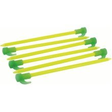 "8"" Pack Of 6 Fluorescent Pegs -  pegs tent 6 fluorescent pack 8 glow dark hi highlander 681012 vis 200 mm inch"