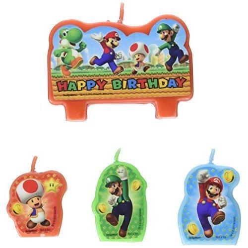 Super Mario Happy Birthday Candles - /4