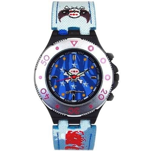 Call Of Duty Boy's Blue Cameo Strap Sniper Gun Icon Analogue  Watch