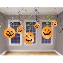Halloween Hanging Swirl Decorations  - /12