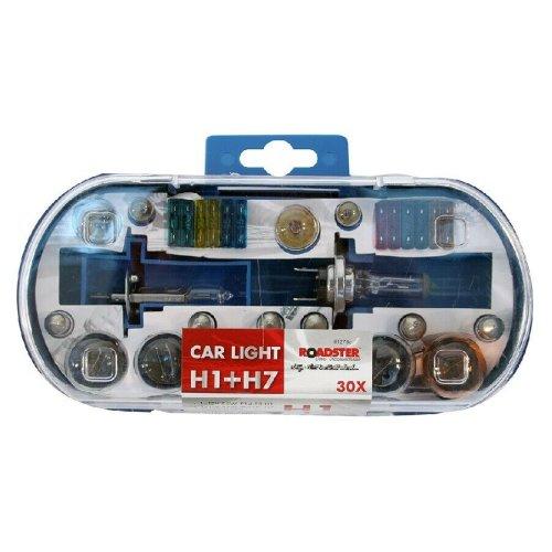H1 & H7 Replacement Light Bulbs and Fuse Set 30pc Kit Van Car Motor Bike