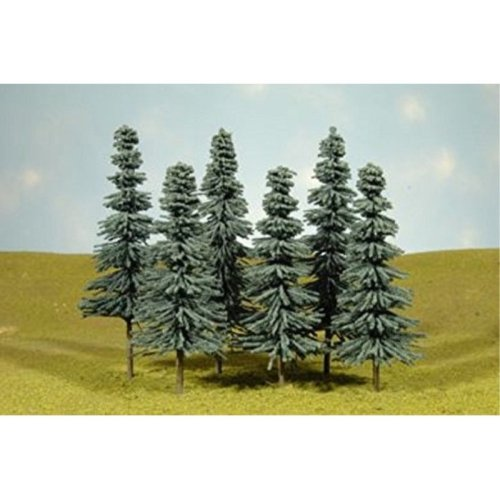 """Bachmann Industries Scene Scapes Trees 3""""- 4"""" Blue Spruce Trees N Scale Train (9 Piece)"""