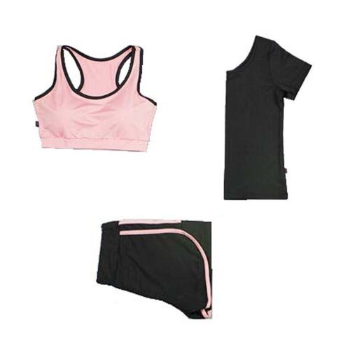 Women 3 Pieces High Impact Sport Suits Comfortable Yoga Pants Gym Outfits
