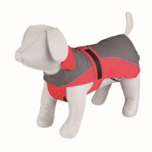 Trixie Lorient Raincoat, 30 Cm, Red/grey - Dog Sizes Coat Various Rain Raincoat -  dog lorient sizes coat trixie various rain raincoat puppy jacket